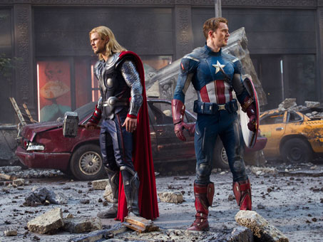 The Avengers Thor and Captain America