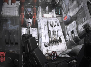 Metroplex fall of Cybertron
